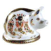 Royal Crown Derby Piglet Paperweight