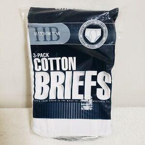 NWT Mens DXL MEN'S HARBOR BAY 3 Pack WHITE COTTON BRIEFS - 5XL (58-60) SEALED