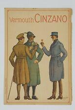 CINZANO Vermouth Pubblicità adversiting 1917 Alpini Prima guerra mondiale