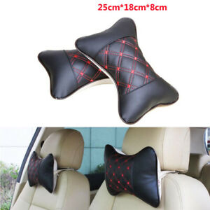 2X Car Auto Seat Head Neck Rest Cushion Chair Support Pillow Back Headrest PU