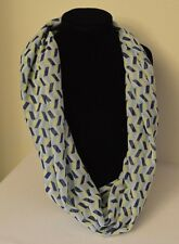 Infinity Scarf women's Handmade Chiffon NEW navy blue, aqua, yellow - thin & sof