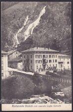 BERGAMO BRANZI 11 LAGHI GEMELLI - RISTORANTE - CASCATE Cartolina viaggiata 1921