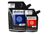 Sennelier professional artists ABSTRACT ACRYLIC PAINT 120/500ml heavy body pouch