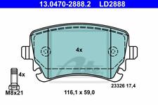 Bremsbelagsatz Scheibenbremse ATE Ceramic - ATE 13.0470-2888.2