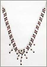 Necklace  made with Silver and Garnet