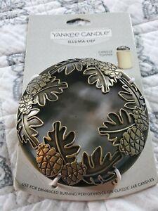 Yankee Candle Illuma-Lid Candle Topper Maple Leaf Acorn New
