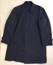 Vintage London Fog Maincoats Mens Trench Coat Sz 40 Reg Navy Blue Dress Jacket