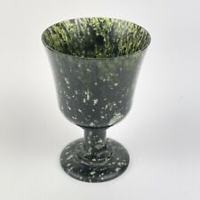 More details for fine carved solid jade cup goblet possibly of chinese origin height 6cm