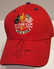 NWT Ryder Cup 2006 JJ Henry Autographed Cap Hat Red Baseball K Club 1927 Golf