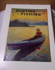 1939 Vintage Hunting and Fishing Magazine May       T*