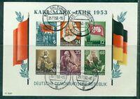 DDR, Karl-Marx-Jahr 1953 Block 8 B Bedarfsstempel