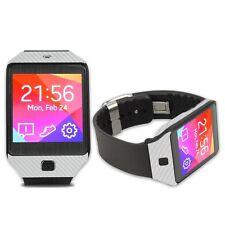 Skinomi Carbon Fiber Silver+Screen Protector For Samsung Galaxy Gear 2 NEO Watch