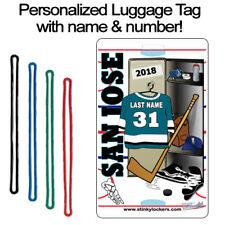 Personalized San Jose Hockey Luggage Tag