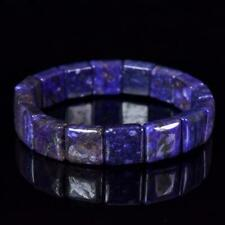 Bracelet with Square Purple Charoite Gemstone Beads from Russia 6½""