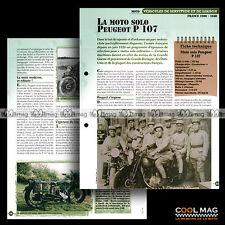#vm011.08 ★ PEUGEOT 350 P107 FRANCE MOTO 1930-1940 ★ Fiche Véhicule Militaire