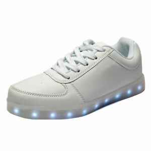 LED Light Luminous Shoes Waterproof Trainer Sneaker Luminous Unisex Casual Shoes