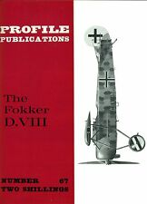 FOKKER D.VIII: PROFILE #67/ 12 NEW PAGES+FULL A3 CUTAWAY/ NEW-PRINT FACSIMILE ED