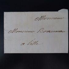 """1744 LETTRE COVER CAMPAGNE DE FLANDRE PLI DATÉ """"AU CAMP SOUS LILLE CE 13 AOÛT"""""""