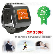 CMS50K Heart Rate Monitor,ECG/SPO2 Monitor,Watch,Sports,Calorie,Steps,PR,Wireles
