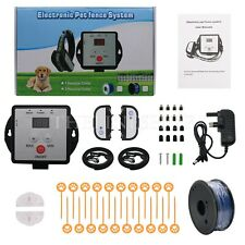 Electric Wireless Dog Fence System Training Shock Collar Waterproof for 2 Dogs