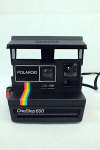 Vintage Polaroid One Step 600 Camera Instant Film Rainbow Stripe Model