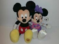"""DISNEY PARKS Walt Disney World MICKEY AND MINNIE MOUSE 17"""" PLUSH easter gift"""