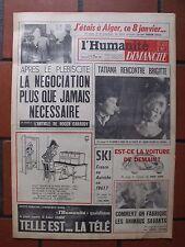 ▬►L'HUMANITÉ 15 JANVIER 1961 BRIGITTE BARDOT_TATIANA SAMOILOVA_ACTUALITÉS