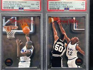 1993 Pemium SHAQUILLE O'NEAL - SHAQ TALK COMPLETE SET - PSA GRADED ten card set