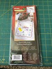 """Bucilla Snow Bear 14x44"""" Stamped Tablerunner Craft Kit"""