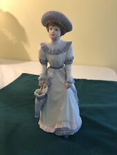 "Home Interiors #1491 ""Lady Penelope� Figurine Porcelain 8 1/2� Tall"
