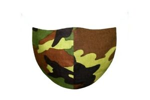 FACE MASK KID'S WOMEN MASK PARTY WEAR 100% COTTON WASHABLE CAMOFLAGED SCHOOL