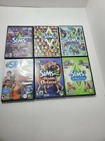 Lot Of 6 THE SIMS 2/3/4 PC GAMES Rated Teen/ Collection