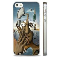 Salvador Dali Abstract Face Art CLEAR PHONE CASE COVER fits iPHONE 5 6 7 8 X