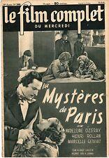 LE FILM COMPLET 2485 les mystères de Paris (1941)  PHOTO DE PAUL CAMBO