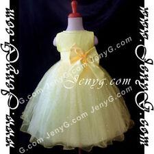 Vêtements jaunes en polyester pour fille de 2 à 16 ans