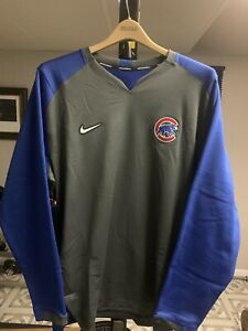 Chicago Cubs Nike Therma Crew Pullover - Large