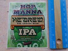 Bier Sammlerstück Aufkleber ~ Shmaltz Gär Co He' Brew Hop Manna Ipa ~ New York
