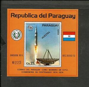 PARAGUAY SPACE KOSMOS MICHEL BLOCK 220 SPECIMEN MNH