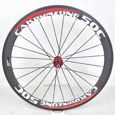50mm 700C road bike Rear wheel Clincher Bicycle white red 3k matt