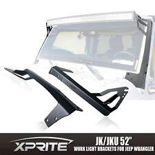 """52"""" Steel Front LED Light Bar Mounting Bracket Kit For 07-17 JK JEEP WRANGLER"""