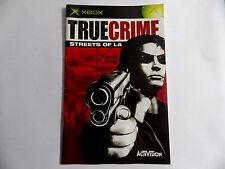 True crime street of LA xbox Notice livret instruction manuel FR