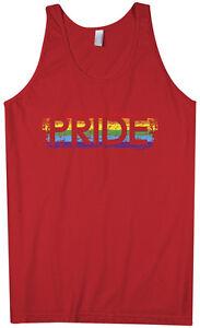 Threadrock Men's Pride Tank Top gay rainbow