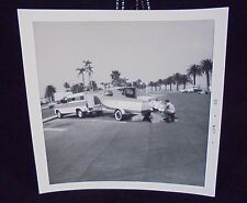 VINTAGE PICTURE OF TRUCK PULLING BOAT PALM TREES PHOTO PHOPTGRAPH