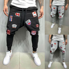 Men's Baggy Joggers Hip-Hop Dance Pants Sweatpants Cargo Loose Sports Trousers