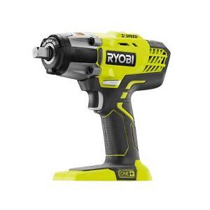 "Ryobi P261 18V One+ 18 Volt Li-ion 1/2"" 1/2 Inch Impact Wrench Drill Driver -New"