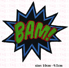 Bam iron sew on patch comic novelty batman embroidered badge applique  # 055