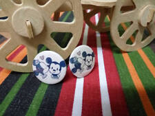 Mickey and Minnie Clip On earrings (25mm, pins, jewelry)