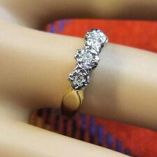 18 ct GOLD second hand three stone diamond ring