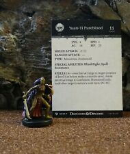 Dungeons & Dragons ARCHFIENDS YUAN-TI PUREBLOOD #60 Uncommon Medium W/ card.(B)