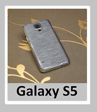2 trozo Galaxy s5, Deluxe funda protectora refracción cristal gris & Esmeralda